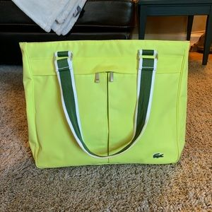 Lacoste Lime Green Tote 🐊